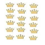 Vosarea 18 Piezas Pegatinas de Pared de Coronas Vinilos Decorativos Etiqueta de Ventana Decoración de Habitación de Niños