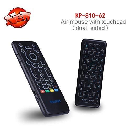 superpow Wireless Tastatur Mini Bluetooth Drahtlos Keyboard Kabellos mit IR-Lernfernbedienung Doppelseitiges Layout WiFi 2,4Ghz Mini Wireless Keyboard(Qwert, deutsches Tastaturlayout)