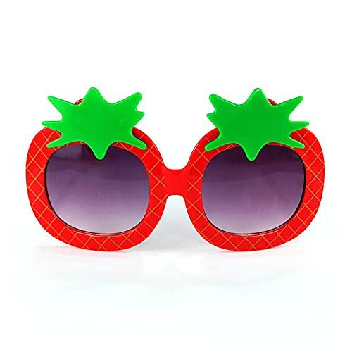 ZHEMAIE Gafas de Sol Nueva Forma de Fresa niños Gafas de Sol Lindas Estilo de Dibujos Animados Gafas bebé Rosa Gafas Gafas para Excursionismo Ojo Protector (Lenses Color : Red)