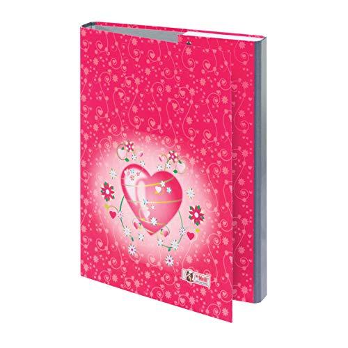 McNeill Heftbox Sammelbox Hefthülle A4 mit tollem Motivdruck (Hearts)