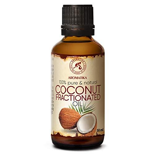 Huile Végétale de Coco - 50ml - Cocos Nucifera - Pressée à Froid - Huile de Support - Soins du Visage - Huile pour la Peau - Huile pour le Corps - Huile de Bain - Soin Peaux Sèches, Cheveux