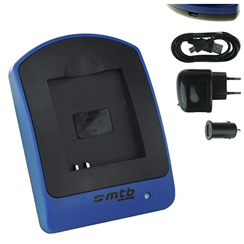 Ladegerät (Netz+Kfz+USB) RL410B für Rollei Action Cam 230, 240, 400, 410 / Maginon AC-800W