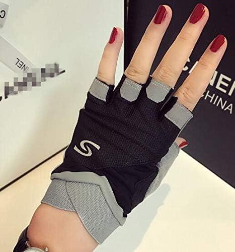 Men Women's Spring Summer Fingerless Sports wear Driving Gloves Female Non-Slip Breathable Riding Gloves R1094 - (Color: Black, Gloves Size: M)