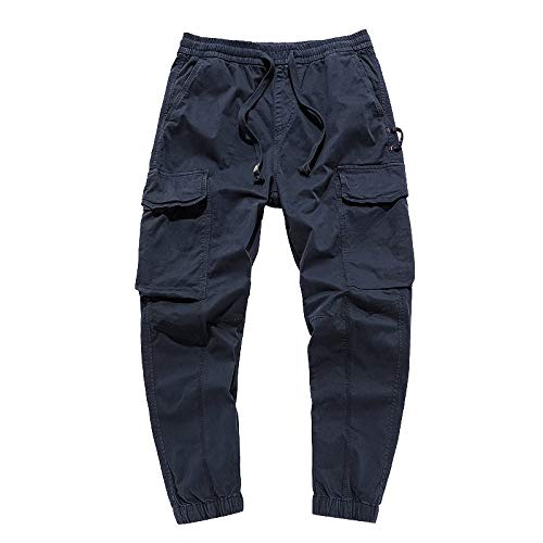 Cargohose für Herren Lose, großformatige, einfarbige Fußhose mit Mehreren Taschen für Reisen, Wandern, Camping, Outdoor 30
