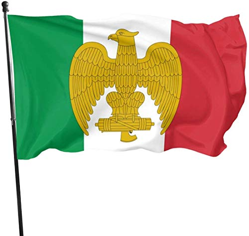 Jeewly Bandera del jardín Bandera De La Italia Fascista Decorative Garden Flags, Outdoor Artificial Flag for Home, Garden Yard Decorations 3x5 Ft