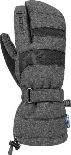 Reusch Connor R-TEX XT Lobster Handschuh, Black/Black Melange, 7.5