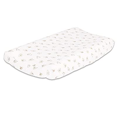 Gold Butterfly Baby Changing Pad Cover by The Peanut Shell