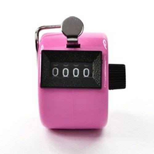 Exoh Rouge Handheld Compteur manuel 4 chiffres Affichage pour Lap/sport/Coach/école/CAS