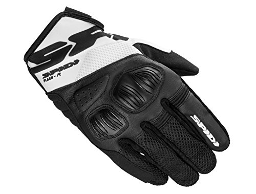 SPIDI Flash-R Evo Tex Handschuhe, Schwarz/Weiß, Größe S