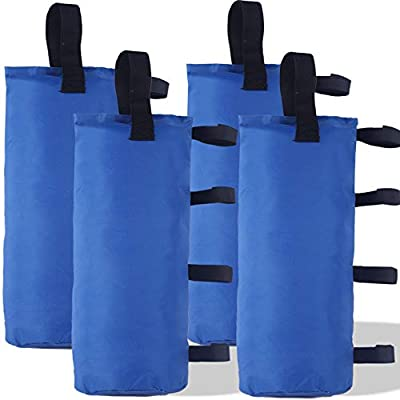 ABCCANOPY 112 LBS Outdoor Pop Up Canopy Tent Gazebo Weight Sand Bag Anchor Kit-4 Pack (Blue)