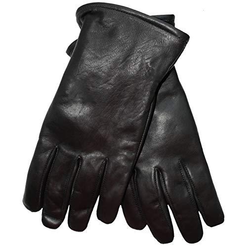 German Wear Lederhandschuhe Lammnappa Handschuhe echtleder winter Handschuhe, M=7 Handumfang 19cm, GL-3 Schwarz