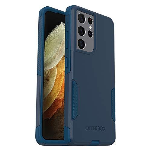 OtterBox COMMUTER SERIES Case for Galaxy S21 Ultra 5G - BESPOKE WAY (BLAZER BLUE/STORMY SEAS BLUE)