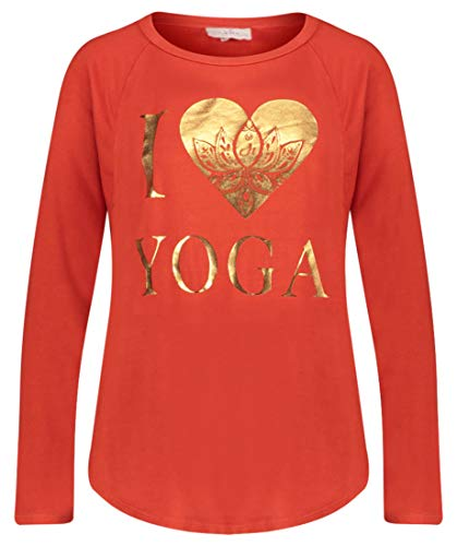 DEHA Damen Yoga-Sweater Langarm rot (500) S