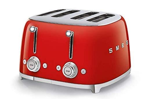 Smeg 4 Slot Toaster Red TSF03 RDUS