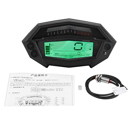 Compteur Digital Scooter - 1 PC de tachymètre numérique moto, indicateur de vitesse pour Kawasaki Z1000 2003-2016.