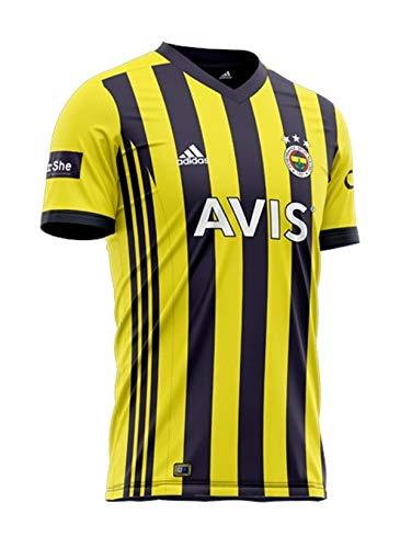 Heimtrikot Fenerbahce Istanbul 2020–2021, gestreift/blau, Herren-Trikot, blau / gelb, XL
