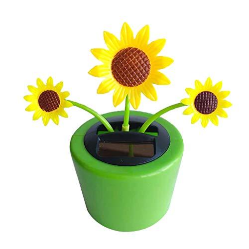 MagiDeal Hawaii Solarbetrieben Tanzende Blume Tanzen Wackelfigur Solarfigur Solar Dekofigur Geschenk - Sonnenblume