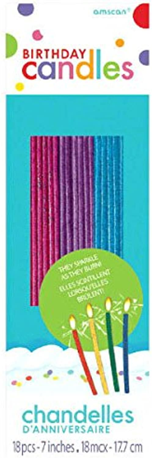 Amscan Sparkling Glitter Birthday Candles   Assorted colors   Party Supply   648 Ct.