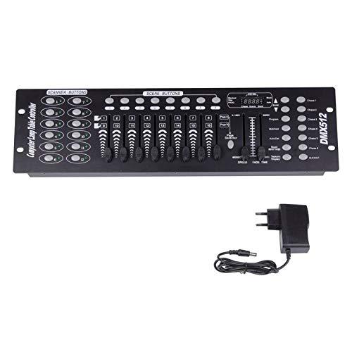 UKing 192 Kanäle DMX512 Controller Konsole 240 Szenen für MINI DMX-Controller DMX-Lichtpult Party DJ Disco Operator Ausrüstung
