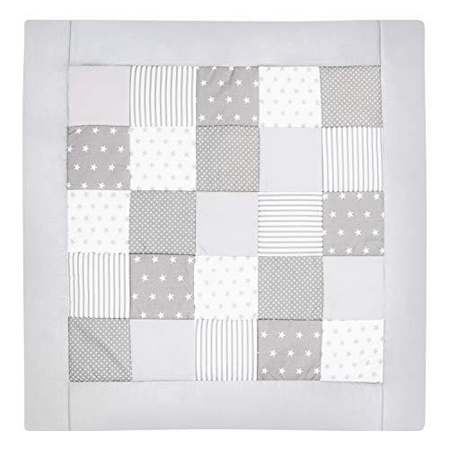Amilian® Krabbeldecke Patchworkdecke Spieldecke Decke (M032) (105x105 cm)