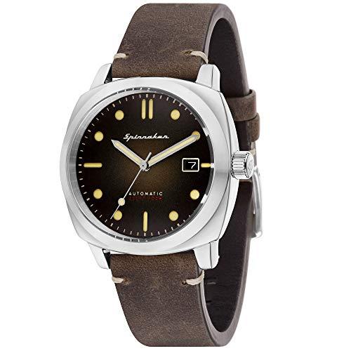 Orologio da uomo Spinnaker – Gamma Vintage – Hull – Automatico – 42 mm – 10 ATM – Cinturino in pelle marrone – SP-5059-02