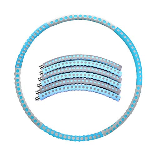 Find Discount WWY Assemblable Fitness Hula Hoop for Women Kids, Weight Loss Hula Hoop, Weight Adjust...
