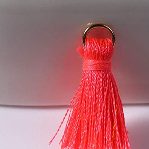 12 stks/partij 2 cm mini polyester kwasten kleine kwasten voor sieraden maken levert armband ketting bevindingen & componenten materiaal, 10 meloen