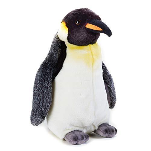 Geographics National Pingouin Animaux en Peluche Jouet en Peluche (Taille Moyenne, Naturel)