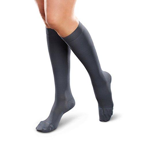 THERAFIRM facilidad opaco de las mujeres rodilla alta medias de soporte,–suave (15–20mmHg) compresión graduada Nylons