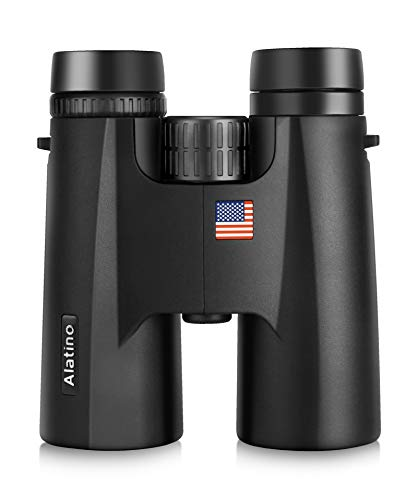 10x42 Binoculars for Adults, 18mm Large View Eyepiece Compact Binoculars for Bird Watching, Hunting, Sports Events and Outdoor Activities