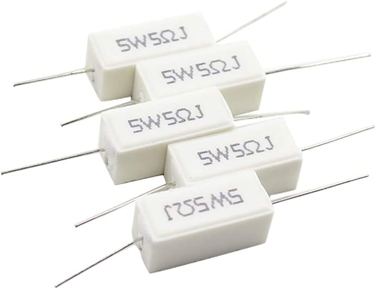 Cheap mail order shopping TOUHIA 15pcs Sale price Wirewound Ceramic Inductionless Resistor 5W 5ΩJ