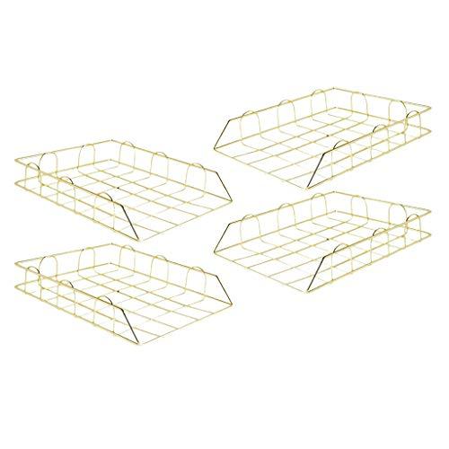 France 4 stuks bureaubakjes, stapelbaar, brievenbushouder, papier
