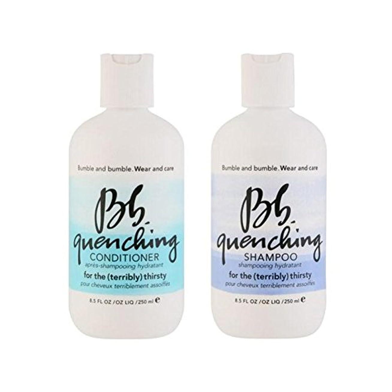 生息地篭投獄Bumble & Bumble Wear And Care Quenching Duo - Shampoo And Conditioner - シャンプーとコンディショナー - デュオを急冷着用し、世話 [並行輸入品]