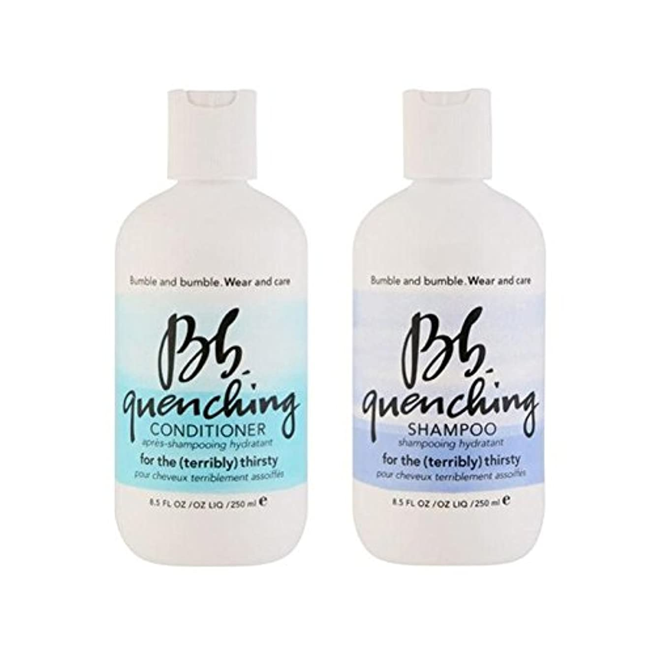北債務予見するBumble & Bumble Wear And Care Quenching Duo - Shampoo And Conditioner - シャンプーとコンディショナー - デュオを急冷着用し、世話 [並行輸入品]
