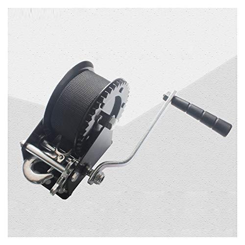 JTB Cabestrante Manual 1000 LB Mano polipasto, Incluido el Aparato de la Correa y la manivela Asas de Cuerda de Cable de Alambre de Acero for Tirar de Barcos Remolques y Camiones