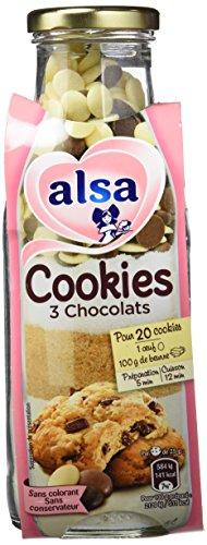 Alsa Préparation pour Cookies 3 Chocolats 400 g