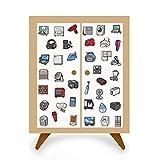 DSSJ 40 Adesivi per Le necessità quotidiane Cartoon Elettrodomestici Computer Frigorifero TV Decorazione Impermeabile Mini Adesivi per Conto Manuale