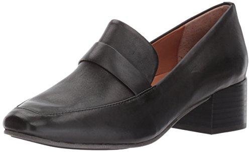 Gentle Souls by Kenneth Cole Women's Eliott Menswear Inspired Dress Loafer with Block Heel, Black, 8 M US