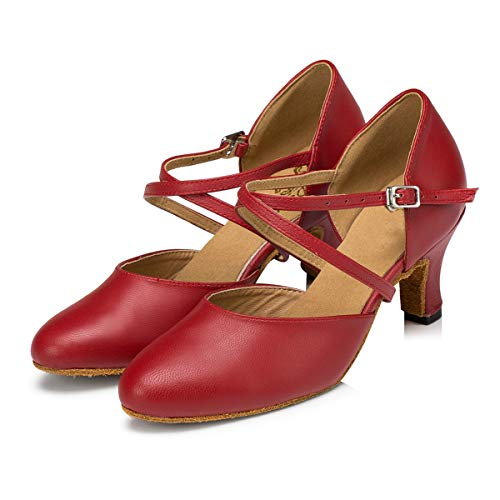 Minitoo , Damen Tanzschuhe , Rot – rot – Größe: 39 - 2
