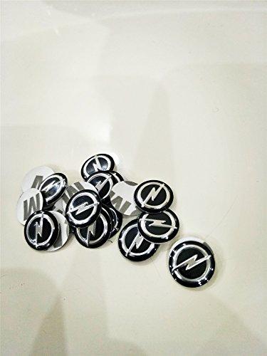 Vaanq 2PCS 14mm Opel logo coche control remoto llavero logo emblema insignia calcomanía