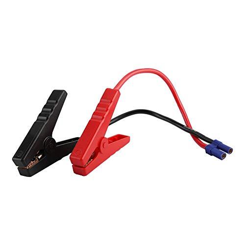 Autobatterie Clip, Batterieklemme Clip Notfall-Starthilfe Batterieclip Messleitungsklemme EC5-Steckverbinder 12 V