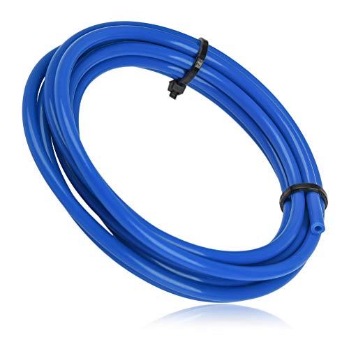YOTINO Tubo Teflón PTFE (1.5 metro) Diámetro Exterior 4mm, Diámetro Interior 2mm para Accesorios de Impresora 3D Filamento 1.75mm (azul)