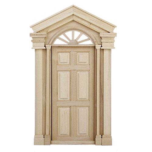 Porte Extérieure Miniature en Bois pour 1:12 Maison de Poupée