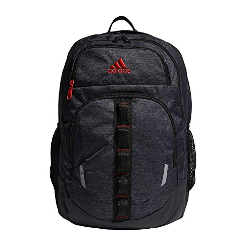 adidas Unisex Prime Backpack, Black Jersey/ Active Red, ONE SIZE