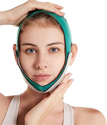 Dr.Taylor V Face Slimming Strap con Grafeno para Mujeres, Anti Arrugas, Anti Envejecimiento, Reutilizable, Transpirable con Cinturón de Elevación de Cara con Forma de V Transpirable,Verde