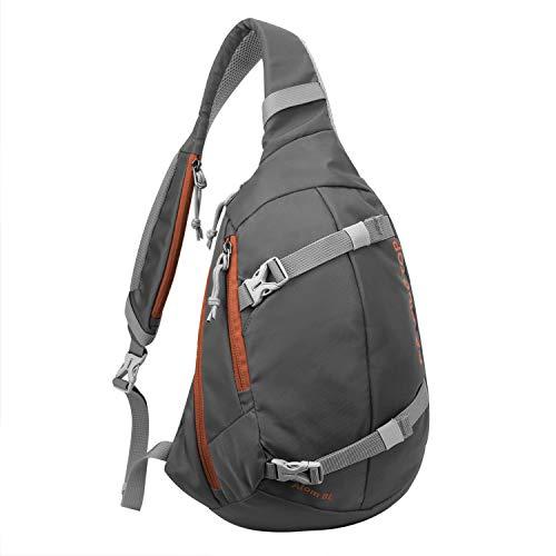 Mardingtop Leichte Brusttasche Umhängetasche Schultertasche Cross Bag Schleuder Tasche Sling Rucksack Outdoor Sporttasche zum Wandern Radfahren Reisen 24x9.5x33cm