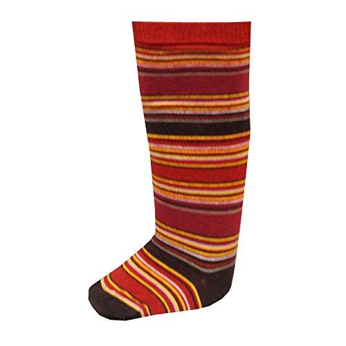 RIESE STRÜMPFE - Mädchen Kniestrümpfe Socken geringelt, rot, Größe 27-30