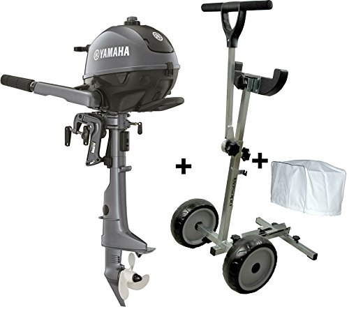 Prowake Yamaha F2.5BMHS 2.5PS Außenborder Set Motor Trolley+ Außenborderabdeckung