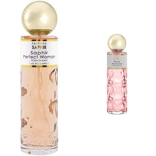 PARFUMS SAPHIR Perfect Woman Eau de Parfum con vaporizador para Mujer 200 ml + Due Amore, Eau de Parfum con vaporizador para Mujer, 200 ml