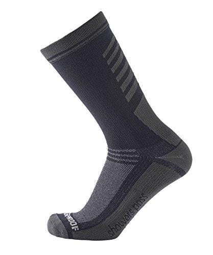 Showers Pass Waterproof Breathable Multisport Unisex Socks - Crosspoint Classic (Grey - Medium/Large)